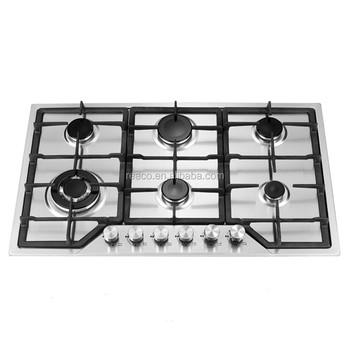 stainless steel 6 burner gas stove manufacturers indoor kitchen