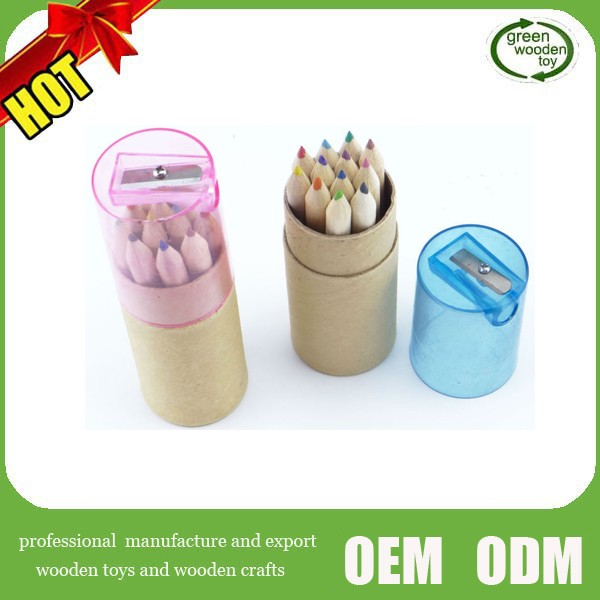 2016 Wooden kids color Pencil with Sharpeners,Color Pencil in12,color pencil children