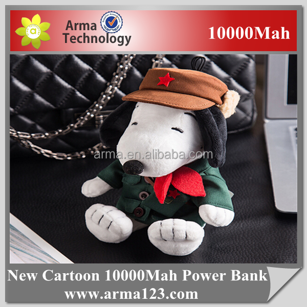 New Arrival Cartoon Gift Power Bank 10000mAh Snoopy Toy for kids