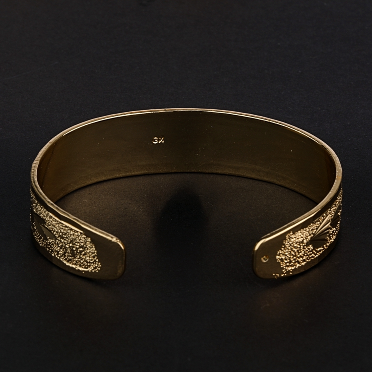 Modern indian gold plated design 925 silver bangle
