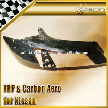For Nissan 200SX S15 Carbon Fiber Vented Headlight Cover LHS