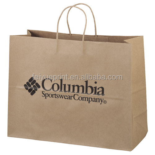 Wholesale Fancy Kraft Paper Clothing Packaging Bag With Logo Printing