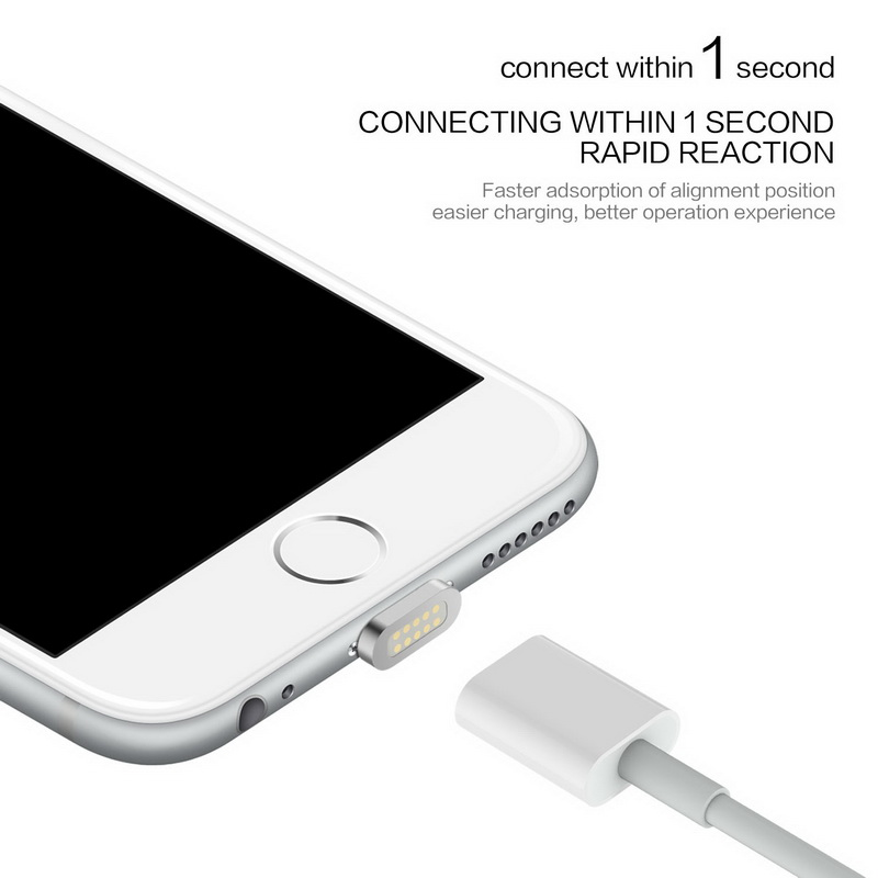 Magnetic Charging Cable for iPhone 7 7plus 6s 5s Android Samsung Smart Phone Usb Data Cable Charging Charger
