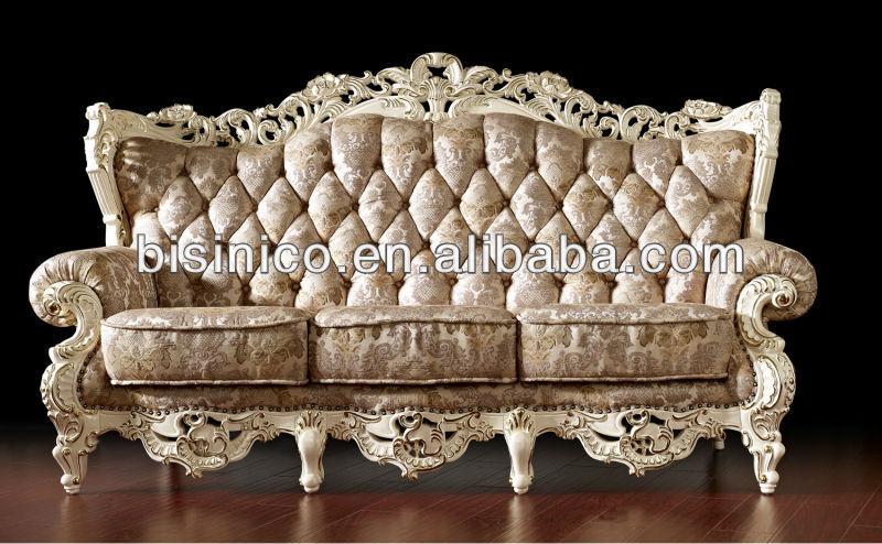 Vintage blanco royal living room sof juego de muebles for Muebles estilo frances