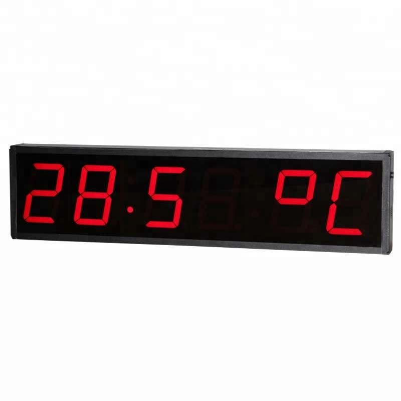 Temperature Digital Gauges Reading Celsius Temperature and Humidity Led Display