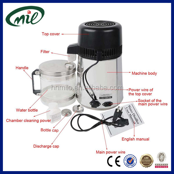 Professional eco water distiller/4l water distillation device