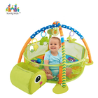 Konig Kids Play Gym, Tapete de jogo de bolas, 3 em 1 Turtle Activity Play Gym,