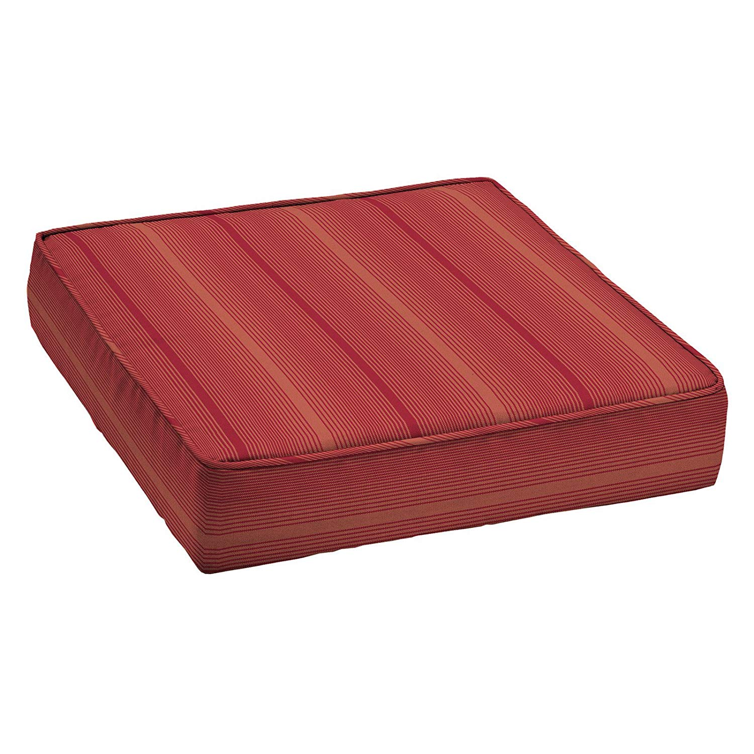 Home Improvements Red Stripe Premium Acrylic 24 x 24 Outdoor Deep Seat Cushion Patio Deep Seating Chair Cushion