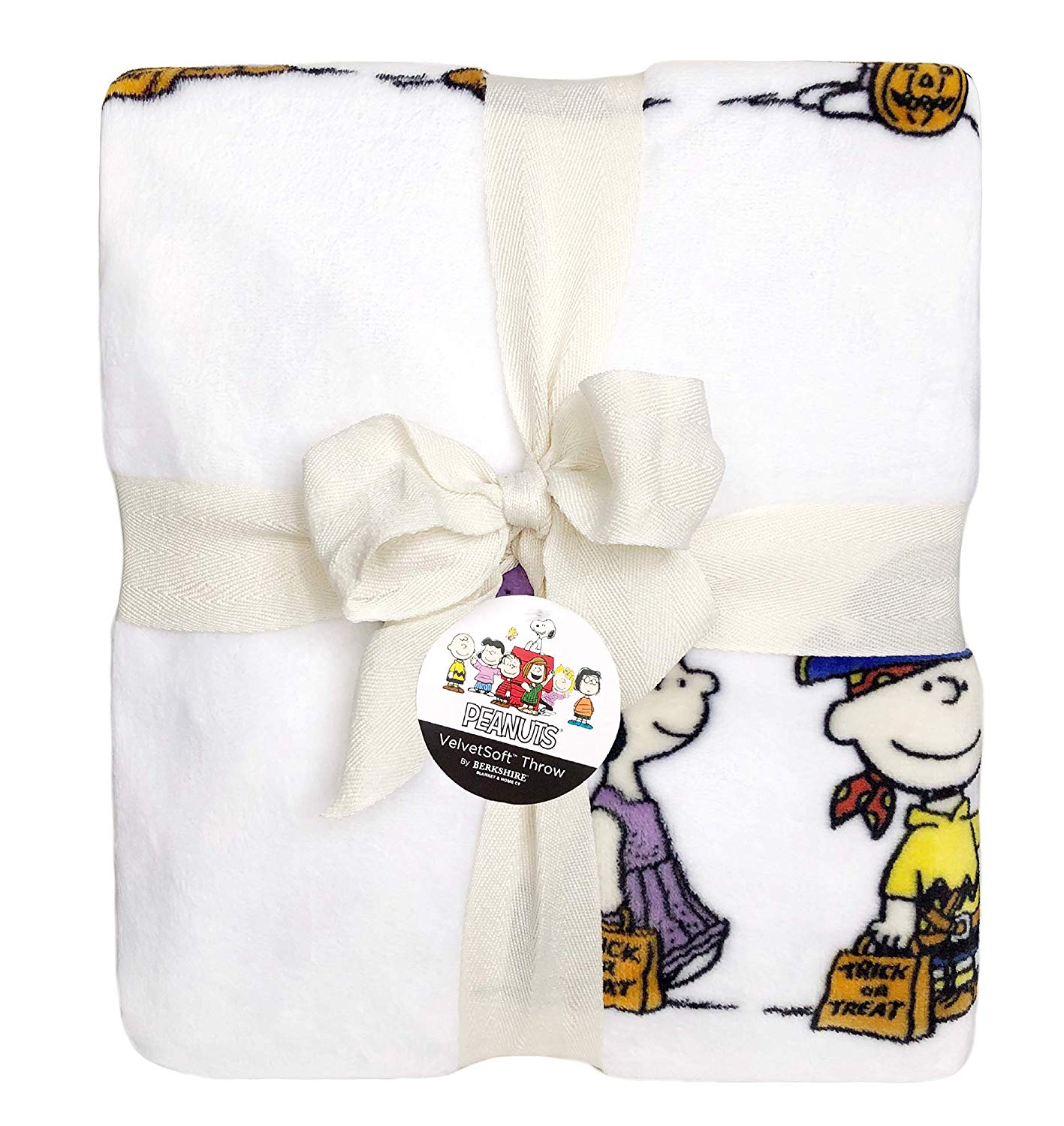 Berkshire Halloween Blanket Peanuts Velvet Soft Plush Blanket (Snoopy Characters in Costumes)