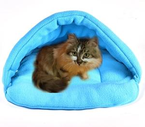 R&H 6 Colors Soft Polar Fleece Mat Winter Warm Small Dog Puppy Kennel Bed Sofa Pet Sleeping Bag Cat Nest House Puppy Dog Nest