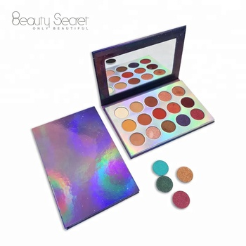 Cosmetics shimmer high pigmented makeup eye shadow private label magnetic eyeshadow palette