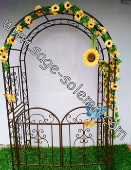 Outdoor Furniture Artistic Decorative Metal Rose Garden Arch For ...
