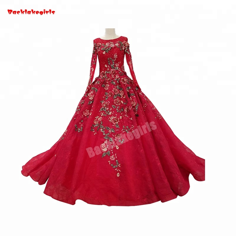 d24aea51beb5 Großhandel brautkleid mit roten blumen Kaufen Sie die besten ...