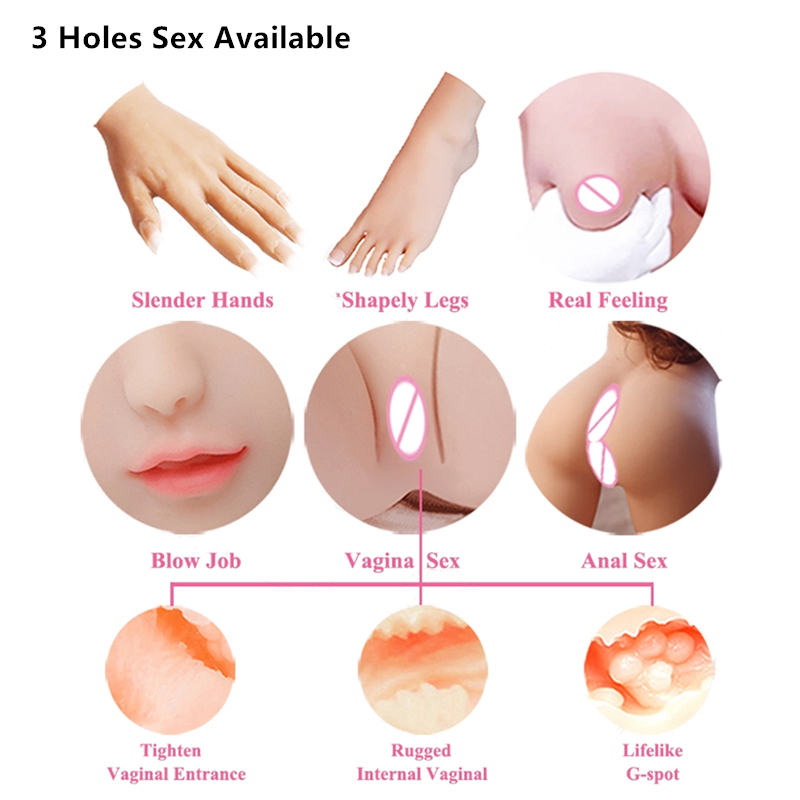 65cm Pretty 18 naked Girl TPE Silicone Mini Sex Love Doll for Young Men Adult