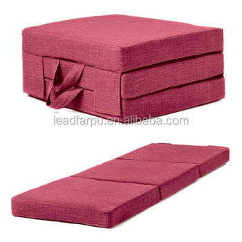 Memory Foam Three Fold Futon Mattress For Nap In Office