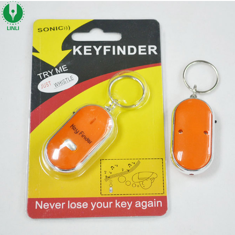 Brand Name Personal Anti Lost Alarm Led Whistle Key Holder Keychain Finder