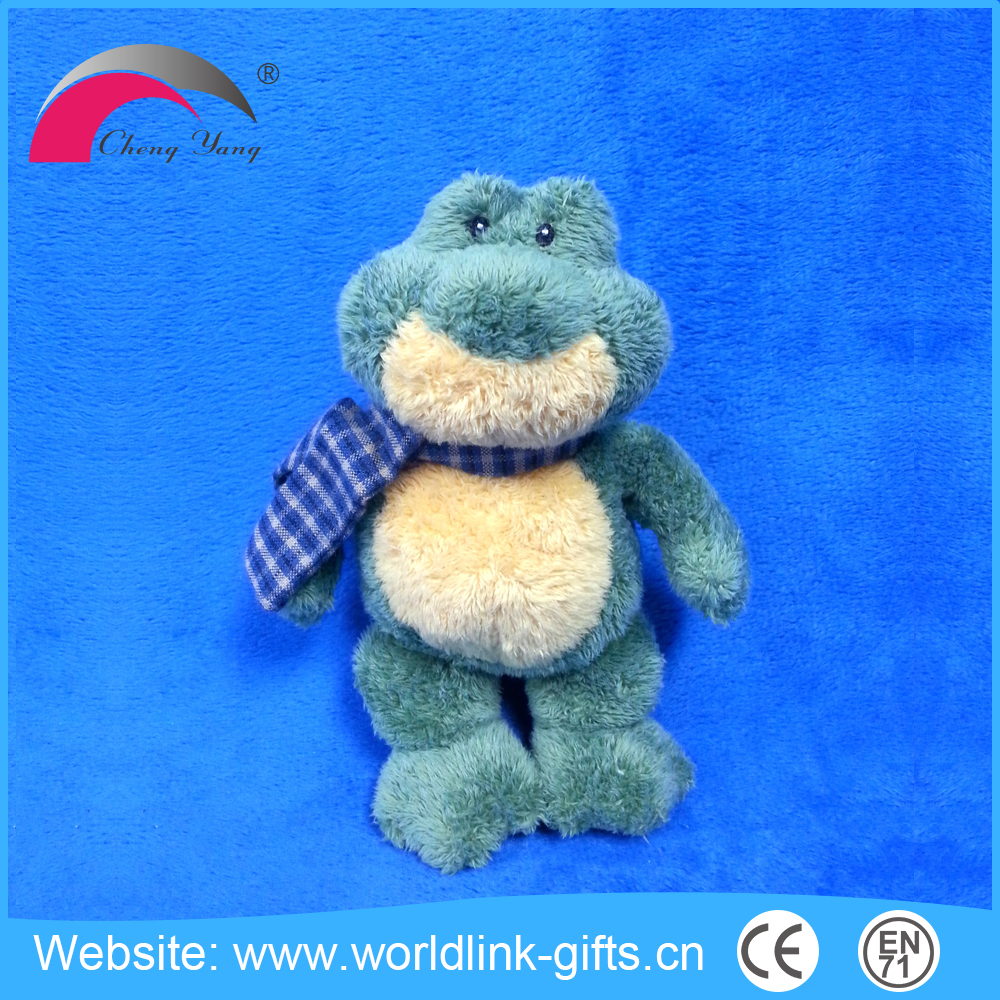 China wholesale stuffed animal toy plush green frog dog toy