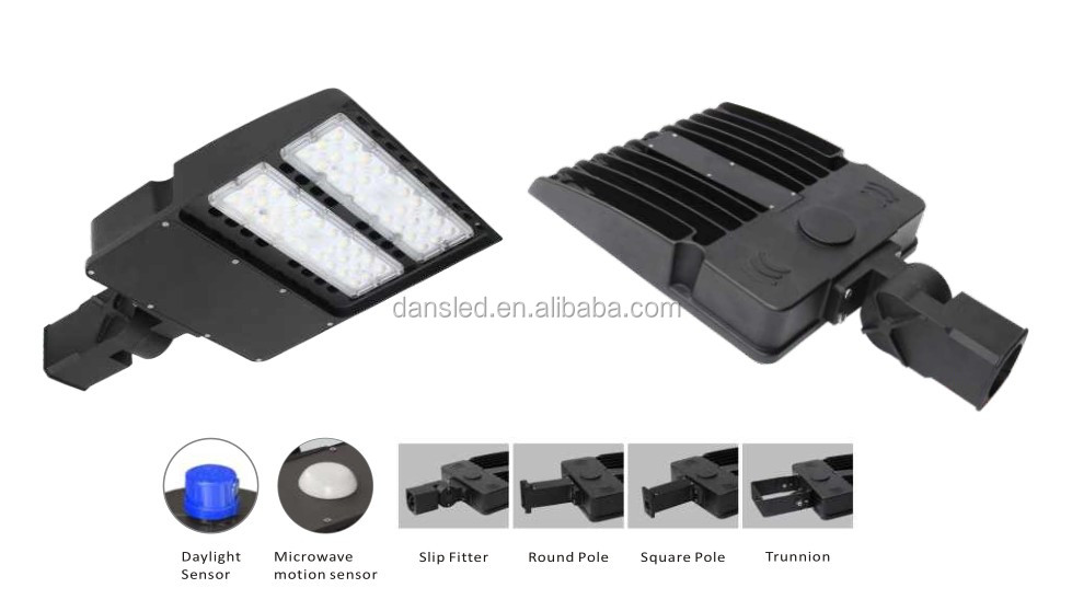 ETL(5004879) DLC UL led area shoe box light 100w led parking lot lighting AC100-277V