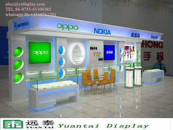 Mobile Shop Decoration Ideas/mobile Shop Counter/glass Display ...