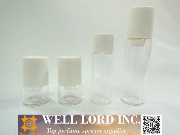 High end small mini size glass perfume tester 1ml roll on bottle