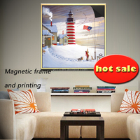 home decor silver magnetic photo frame & print magnetic painting 1013-69