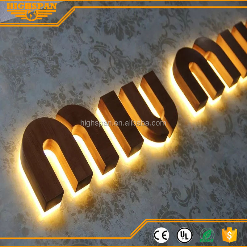 Custom internally illuminated signs