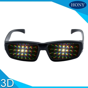 Promotional Plastic Fireworks or diffraction Glasses In Cheap Price