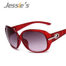 Značkové červené dámské sluneční brýle