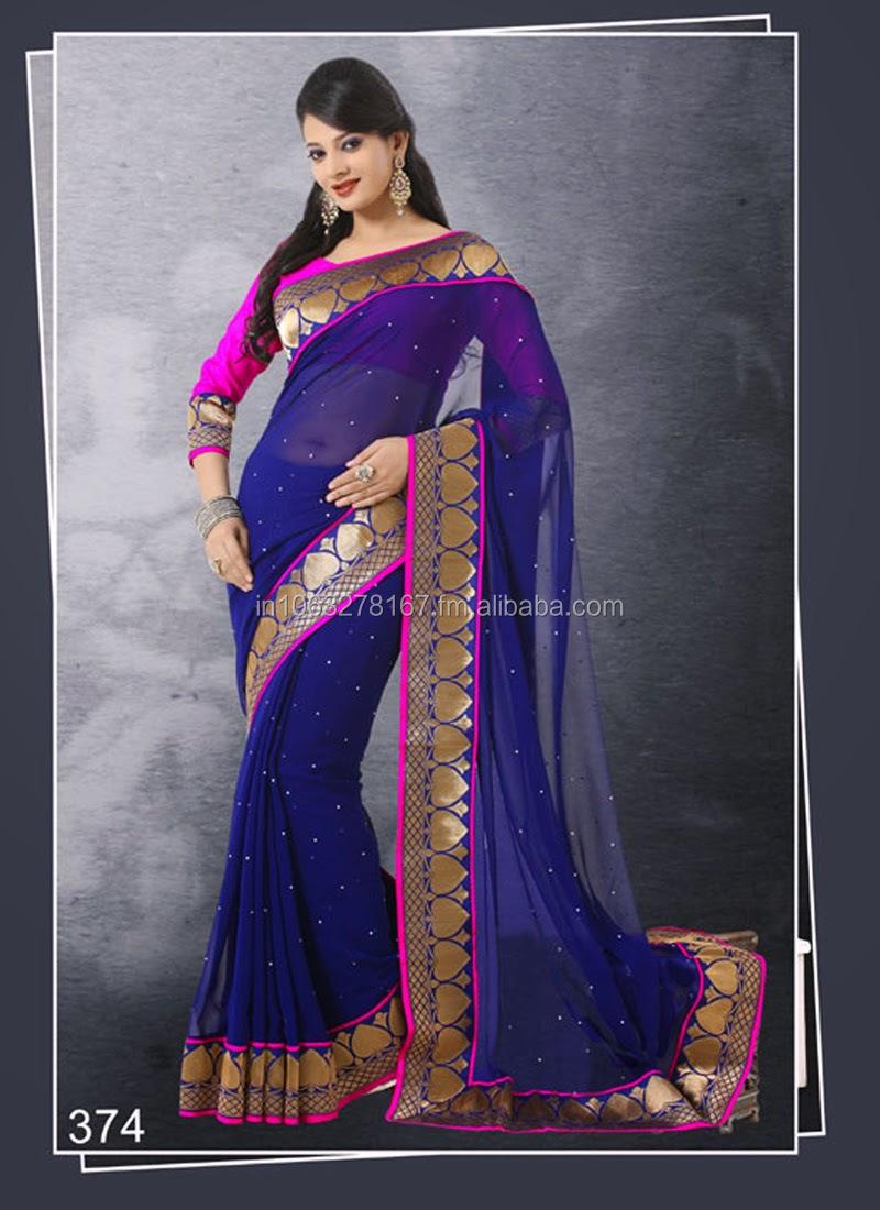 b83c0d239cec18 New Flower Border Stylish Saree Lehenga blouse designer Lehenga Saree.