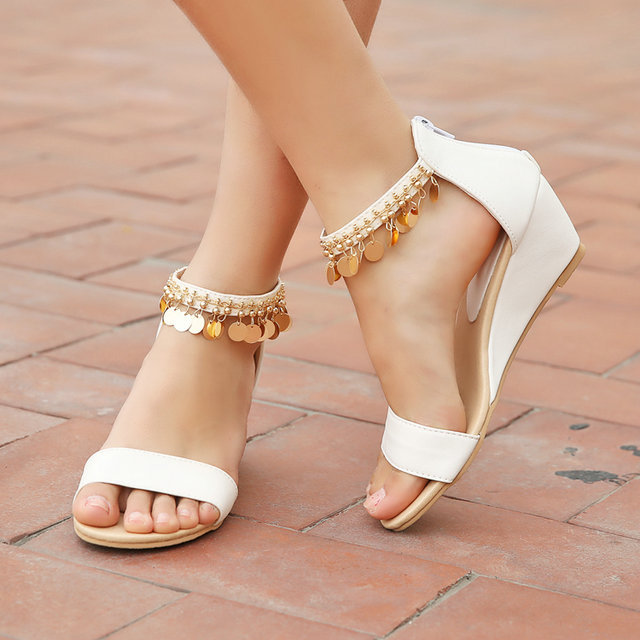 Wedding shoes closed wedges