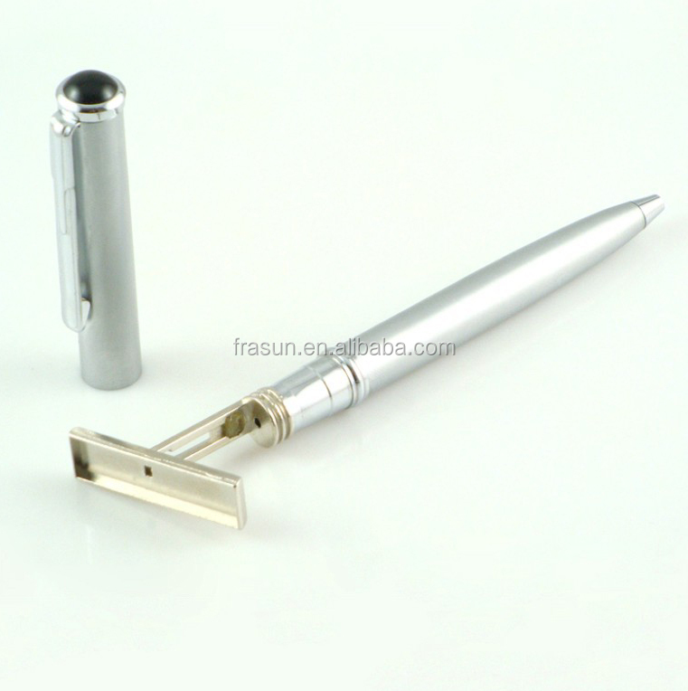 Custom high quality business sign metal name stamp pen with ballpoint pen