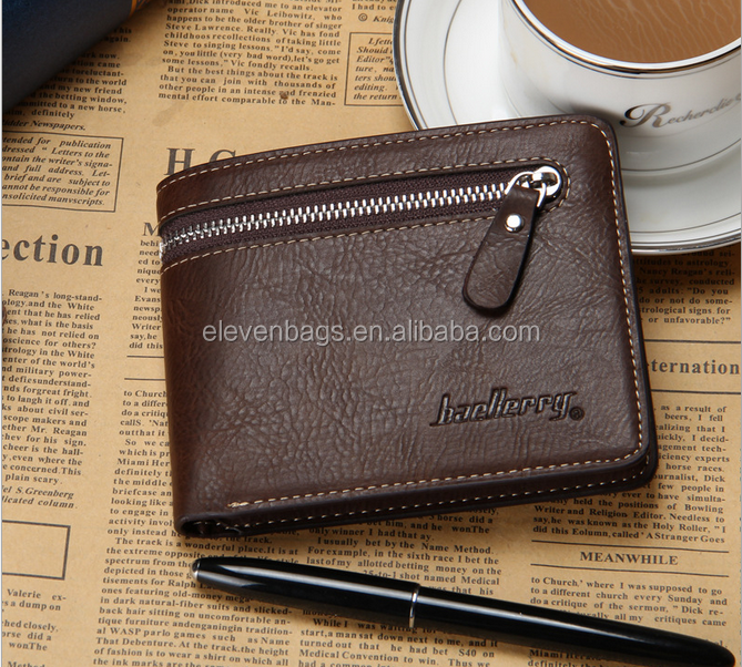 Taobao Private Label Man Wallet, Leather Purse Male