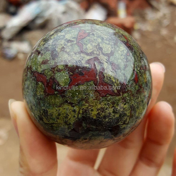 Natural Dragon Blood Stone Jasper Crystal Sphere Ball Gift