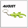 August KBO-1004 Aluminium Alloy Keychain Bottle Opener With Keyring