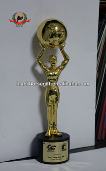 Unique Clear New Design Fist Gold Trophy Awardfunny Sports Awards