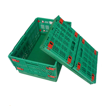 600*400mm Plastic Food Container Folding Crate Collapsible Plastic Storage  Box Folding Crate