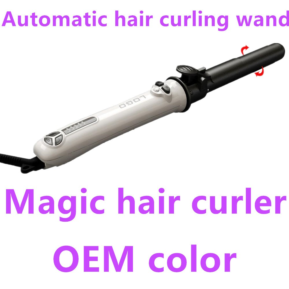 Hair salon equipment luxury auto Hair curling private label Magic wavy curling iron