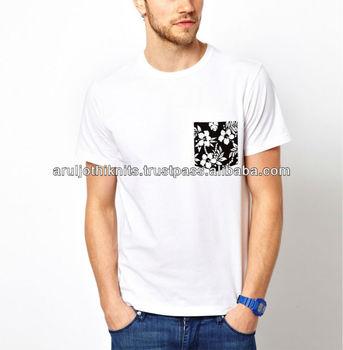 Floral T Shirt Design   Mens T Shirt With Floral Printed Pocket Buy Latest T Shirt Designs