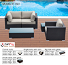 High end rattan wicker modular sofa set for home decor.