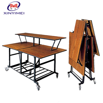 Wooden Restaurant Folding Commercial Buffet Tables XYM-M16-1