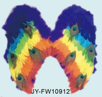 8cf060949 High Quality Rainbow Peacock Feather Wings - Buy Large Feather ...