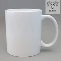 11oz Grade-A heat coated blank white ceramic mugs for promotion