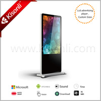 Professional Indoor&Outdoor kiosk stand pc touch screen 46inch for sale