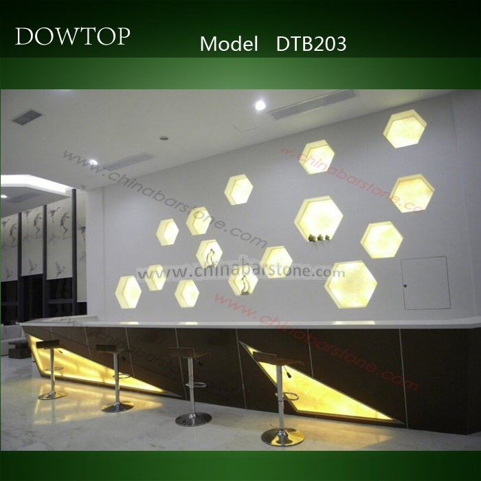 dowtop nuevo diseo de productos de mrmol translcido barra de bar con iluminacin led