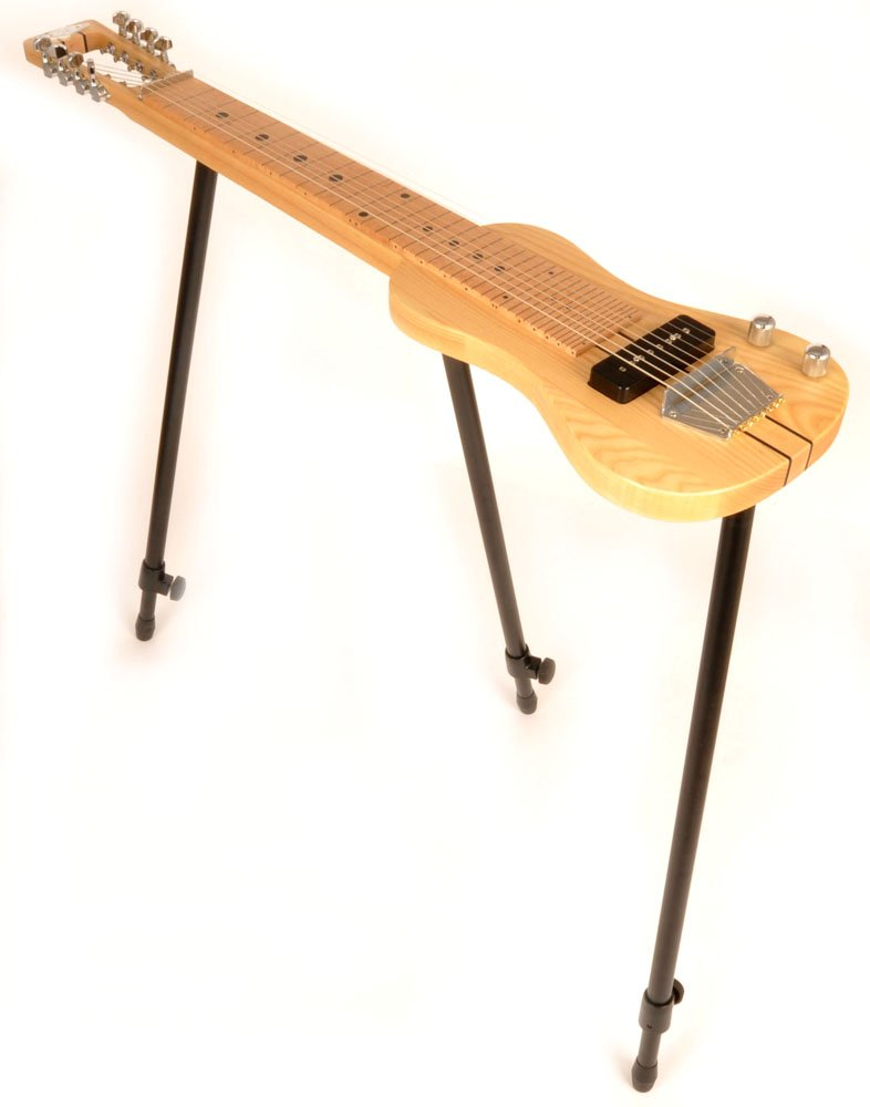 SX LAP 8 NAT 8 String Lap Steel Guitar w/Free Detachable Stand and Padded Carry Bag
