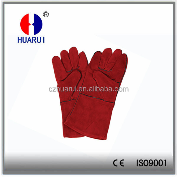 Leather welding glove for mig mag welding