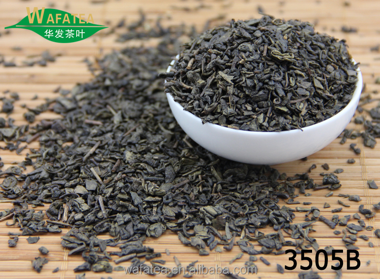 new spring harvested cheap & high quality green tea 3505B gunpowder tea