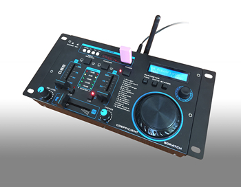 Newly designed professional audio sound system mini DJ mixer controller with scratch and 16 built-in DSP
