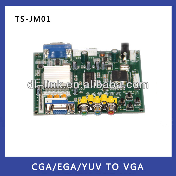 Hot sales! Cga Ega Rgb TO Vga Game Converter Transfer high resolution low resolution