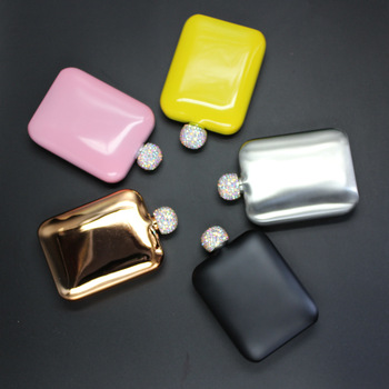 6oz Hip Flask Popular Rectangle Shape  304 Stainless Steel FLASK  6oz Rectangle Shaped Hip Flask, Popular  painting color